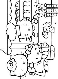dessins à colorier hello kitty