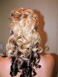 half up half down wedding hairstyles with blonde and brown hair