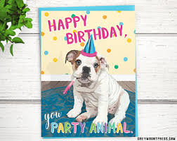 singing bulldog birthday card happy birthday to