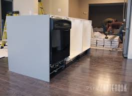How To Build Dishwasher Cabinet Creating An Ikea Kitchen Island Pink Little Notebookpink Little