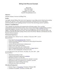 Clerical Job Resume by Billing Clerk Resume Sample Http Resumesdesign Com Billing