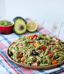 vegan pesto gluten free pasta salad healthy potluck recipe