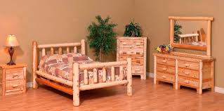 plain fine log bedroom sets amish rustic log bed from