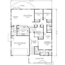 adobe southwestern style house plan 4 beds 2 00 baths 1600 sq