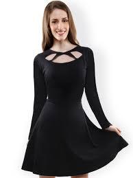 black skater dress skater dresses buy skater dresses for women online myntra