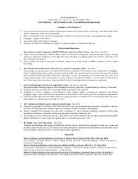 exle of a resume summary jiayang randy li s resume
