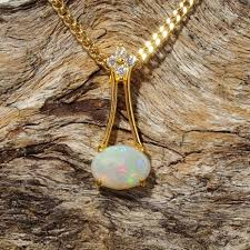 white opal necklace images Gold plated silver opal necklace pendant black star opal JPG