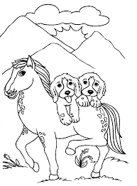 coloring pages of dogs and horses murderthestout