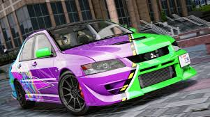 mitsubishi evo 7 custom mitsubishi lancer evolution ix evil empire vinyl gta5 mods com