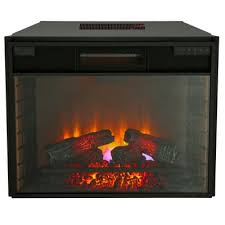 Homedepot Electric Fireplace by 28 In Infrared Quartz Electric Fireplace Insert With Flush Mount