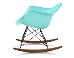 eames molded plastic armchair with rocker base hivemodern com