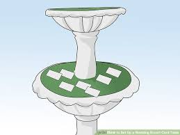 how big is a card table 3 ways to set up a wedding escort card table wikihow