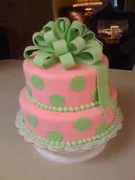 pink and green baby shower cake cakecentral com