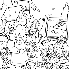 garden scene coloring pages free printable coloring pages of