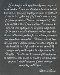 abraham lincoln s thanksgiving proclamation printable
