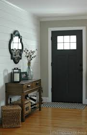 updating the entryway with sherwin williams iron ore iron