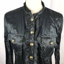chico s chico s chicos 2 large waxed military jacket black light from
