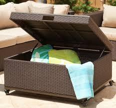 outdoor wicker storage ottoman newport storage ottoman mission hills furniture within outdoor