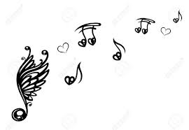 big music note with wings music notes with love royalty free