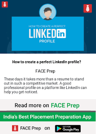 how to create best linkedin profile how to create a perfect linkedin profile articles face prep