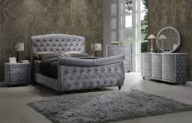 Grey Sleigh Bed Hudson 4 Sleigh Bedroom Set In Grey
