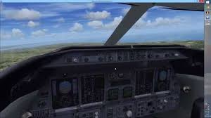 fsx flying a learjet 45 ils approach youtube