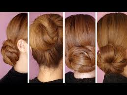 different hairstyles in buns 4 easy hair bun tutorials for the holidays youtube