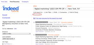 resumes for marketing jobs how to use indeed resume search to find the best candidates fast