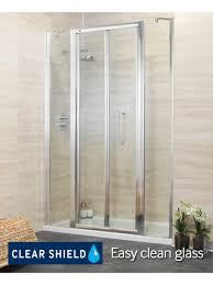 1400 Shower Door Revive 1400 Bifold Shower Door With Two Infill Panels Adjustment