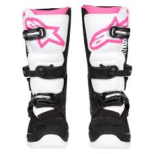 motocross gear for girls alpinestars girls mx boots stella tech 3 black white pink 2018