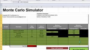 Monte Carlo Simulation Excel Template Excel Monte Carlo Simulator