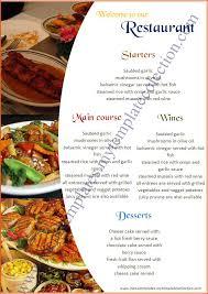 5 free restaurant menu templates bookletemplate org