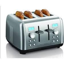 Sports Toasters Farberware Digital 4 Slice Stainless Steel Toaster Walmart Com