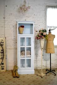Vintage Linen Cabinet Painted Cottage Chic Shabby Chateau Farmhouse Linen Cabinet Shabby