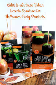 candy apples for halloween frugal foodie mama scary salted caramel apples