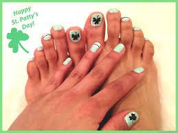 happy st patrick u0027s day nail design and toe art nail designs