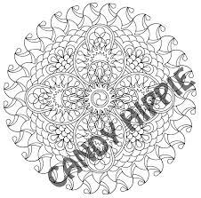 Halloween Mandala Coloring Pages Sea Vajra Mandala By Candy Hippie On Deviantart