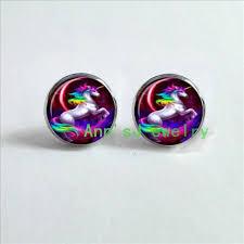 unicorn earrings es 00345 unicorn earrings eardrops style gift earrings