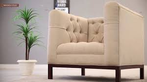 Single Sofa Bed Wooden One Seater Sofa Buy Parslo Single Seater Sofa Online In Off