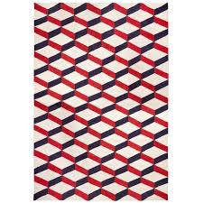 Modern Flat Weave Rugs Lorenzo Reversible Peruvian Llama Flat Weave Rug 6 X 9