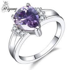 teardrop engagement rings hiyong split band engagement ring teardrop purple cubic zirconia