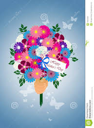 Mother S Day Flower Happy Mother U0027s Day Flower Bouquet Illustration Stock Photo Image
