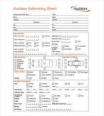 Car Collision Estimate by Repair Estimate Template 18 Free Word Excel Pdf Documents