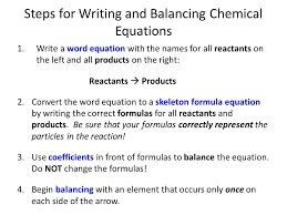 steps for balancing equations worksheet jennarocca how to balance chemical
