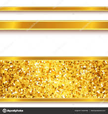 paper ribbons gold paper ribbons shiny borders on white stock vector