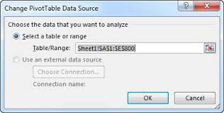 how to update pivot table change the source data for a pivottable excel