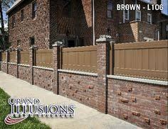 Vinyl Fence Pictures Fences Brick Vinyl Fence Previous Fence - Brick wall fence designs
