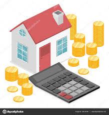 Haus Und Haus Immobilien Und Immobilien Geld U2014 Stockvektor 150114760
