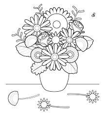 flores dibujo colorear imprimir