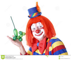 clown balloon l a balloon animal stock image image 1577961